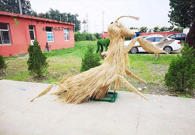 稻草工艺品稻草螳螂造型