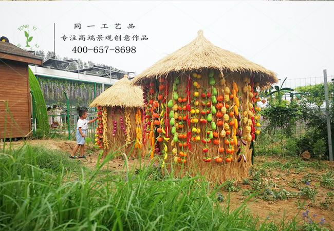 稻草工艺品粮仓造型案例图